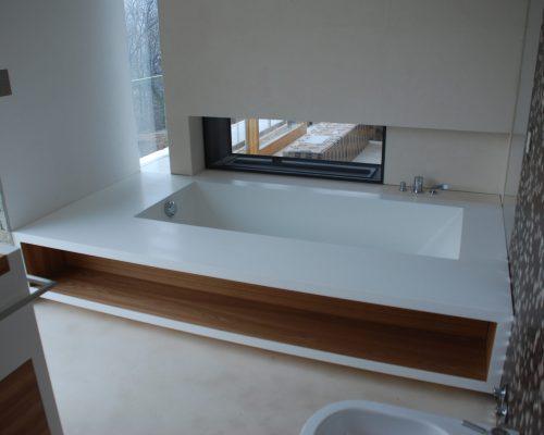 vasca con legno